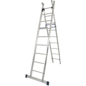 Image of Lyte 2-Section 4-Way Aluminium Combination Ladder 4.44m