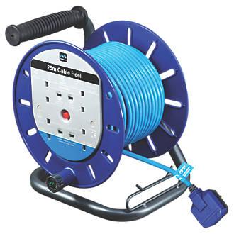 Image of Masterplug LDCT2513BQ/4-XD 13A 4-Gang 25m Cable Reel 240V