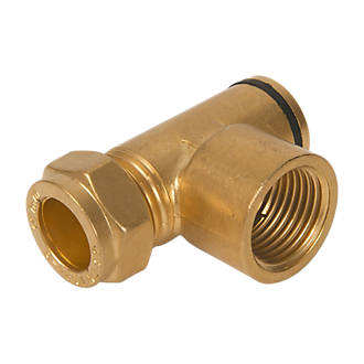 Image of Brass Gas Hob Restrictor Elbow 15mm x 56mm