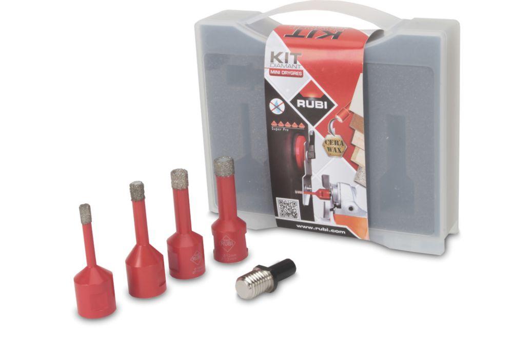 Image of Rubi Dry Cut Diamond Tile Drill Bit Set 5 Pcs