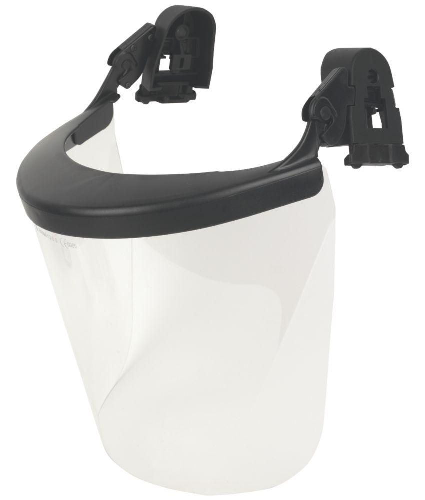 Image of JSP Evolution Safety Helmet Visor Kit Black / Clear