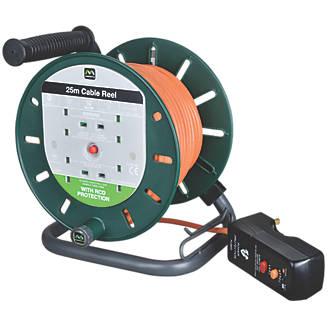 Image of Masterplug LDCS2510BQ/4RCD-XD 10A 4-Gang 25m Cable Reel 240V