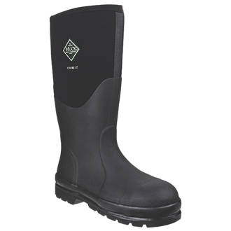 Image of Muck Boots Chore Classic Steel Safety Wellingtons Black Size 10