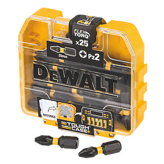 Image of DeWalt Impact Torsion Screwdriver Bits PZ2 x 25mm 25 Pack