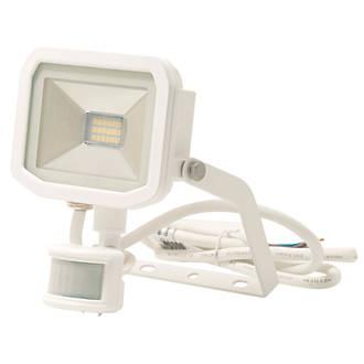 Image of Luceco Guardian LED Floodlight & PIR White 8W Warm White