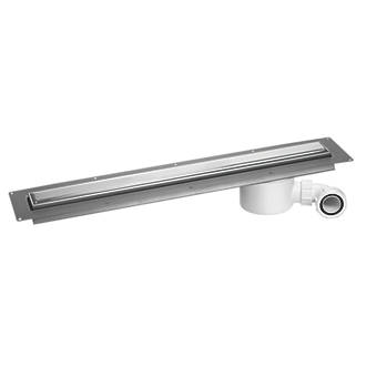 Image of McAlpine CD800-O-P Slimline Channel Drain Polished Stainless Steel 810 x 88mm