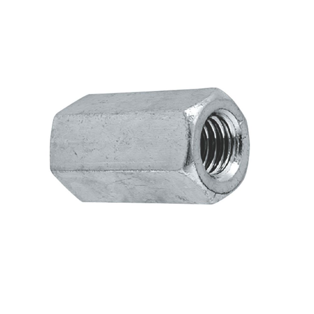 Image of Easyfix A2 Stainless Steel Threaded Rod Connecting Nuts M12 10 Pack