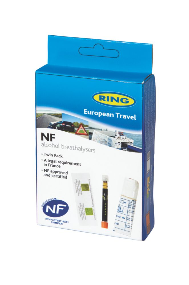 Image of Ring RCTBR3 Disposable European Travel Breathalysers Twin Pack