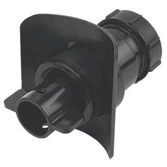 Image of McAlpine Mechanical Pipe Boss Connector Black 40mm
