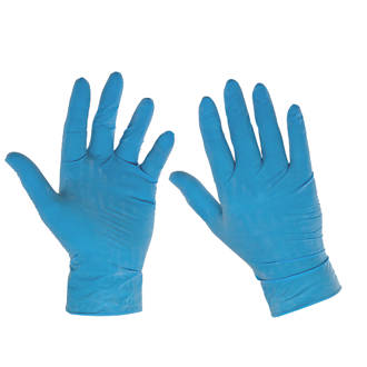 Image of Cleangrip Latex Powdered Disposable Gloves Blue Large 100 Pack
