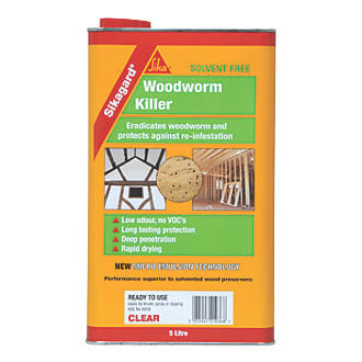 Image of Sika Sikagard Woodworm Killer Clear 5Ltr