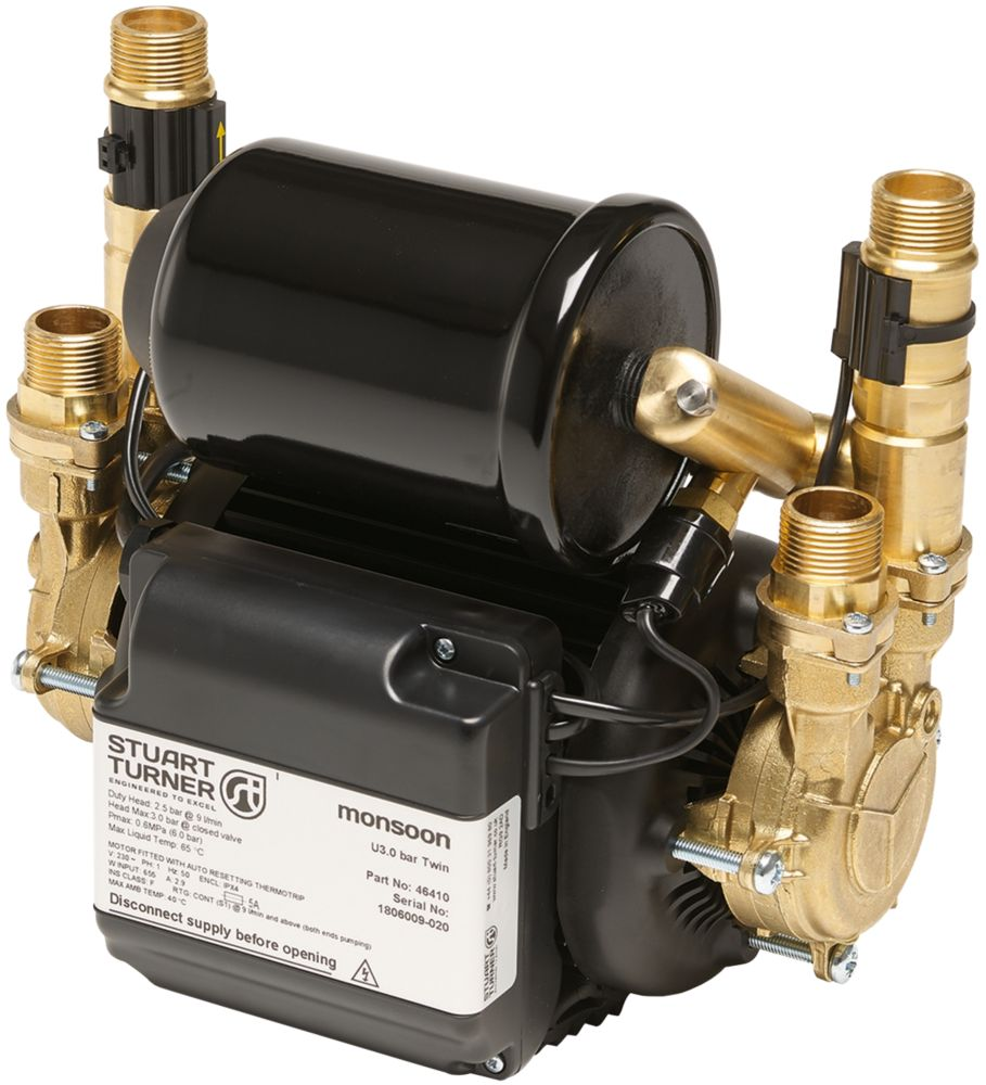 Image of Stuart Turner Monsoon Universal Regenerative Twin Shower Pump 1.5bar