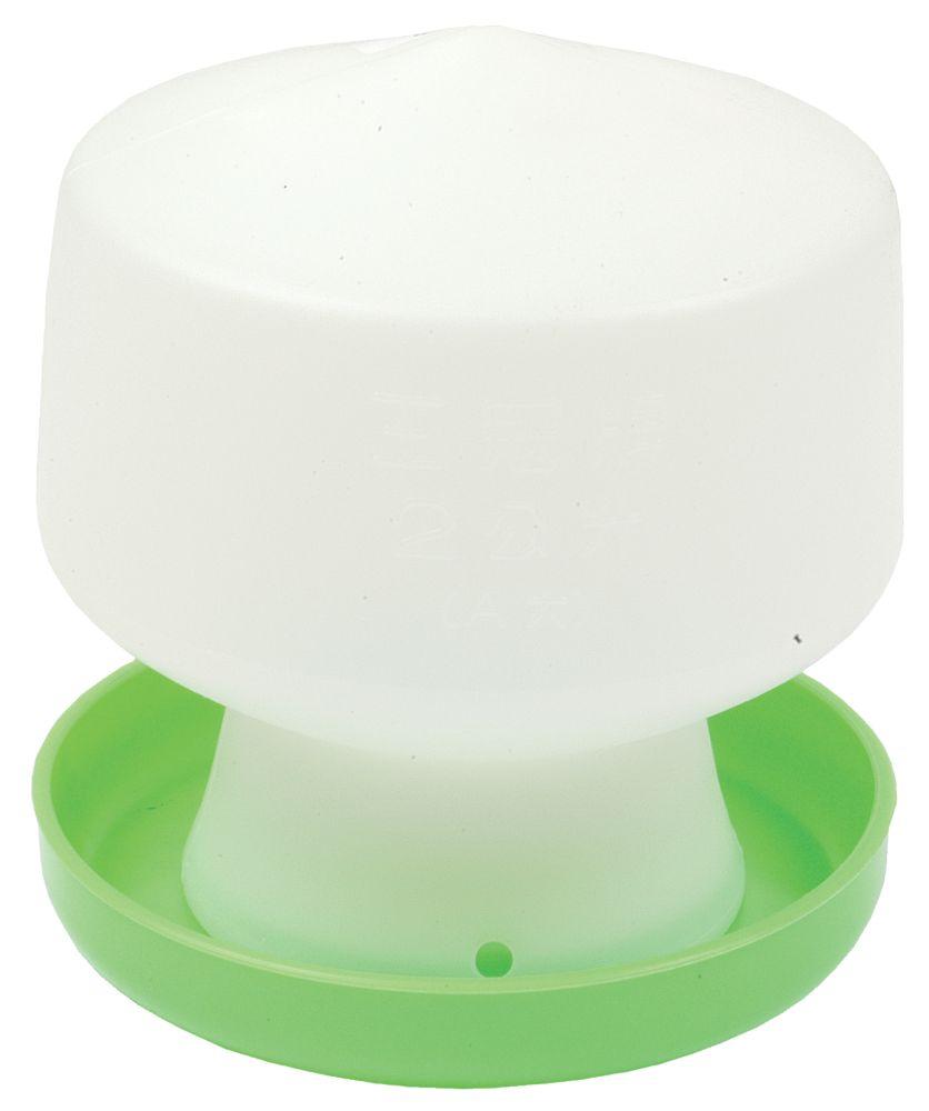 Image of Stockshop Wolseley Plastic Poultry Drinker Green & White 1.3Ltr