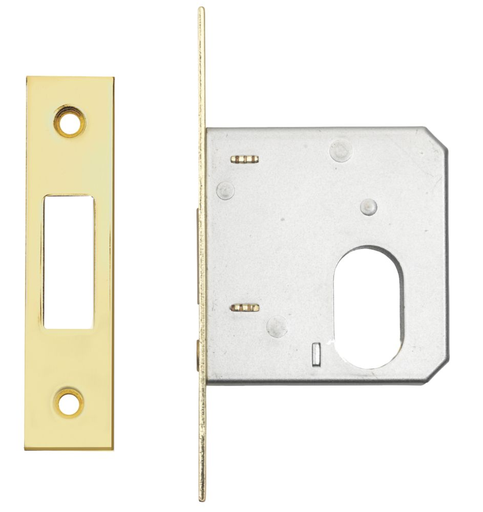 "Image of Eurospec Oval Cylinder Deadlock Electro Brass 1"""