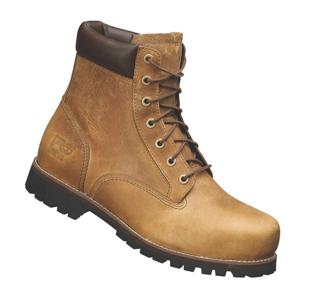 Image of Timberland Pro Eagle Safety Boots Camel Size 8