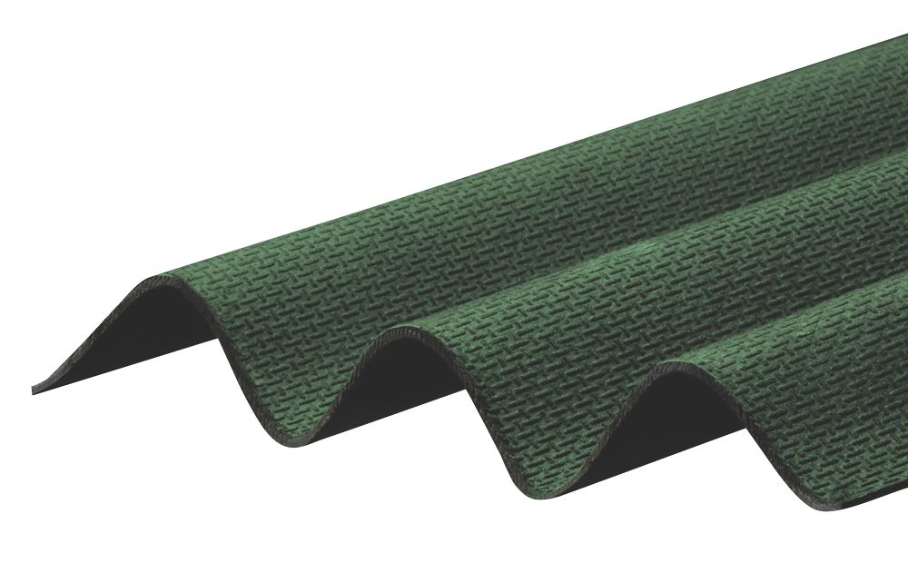 Image of Corrapol-BT Bitumen Roof Sheet Green 2000 x 930mm