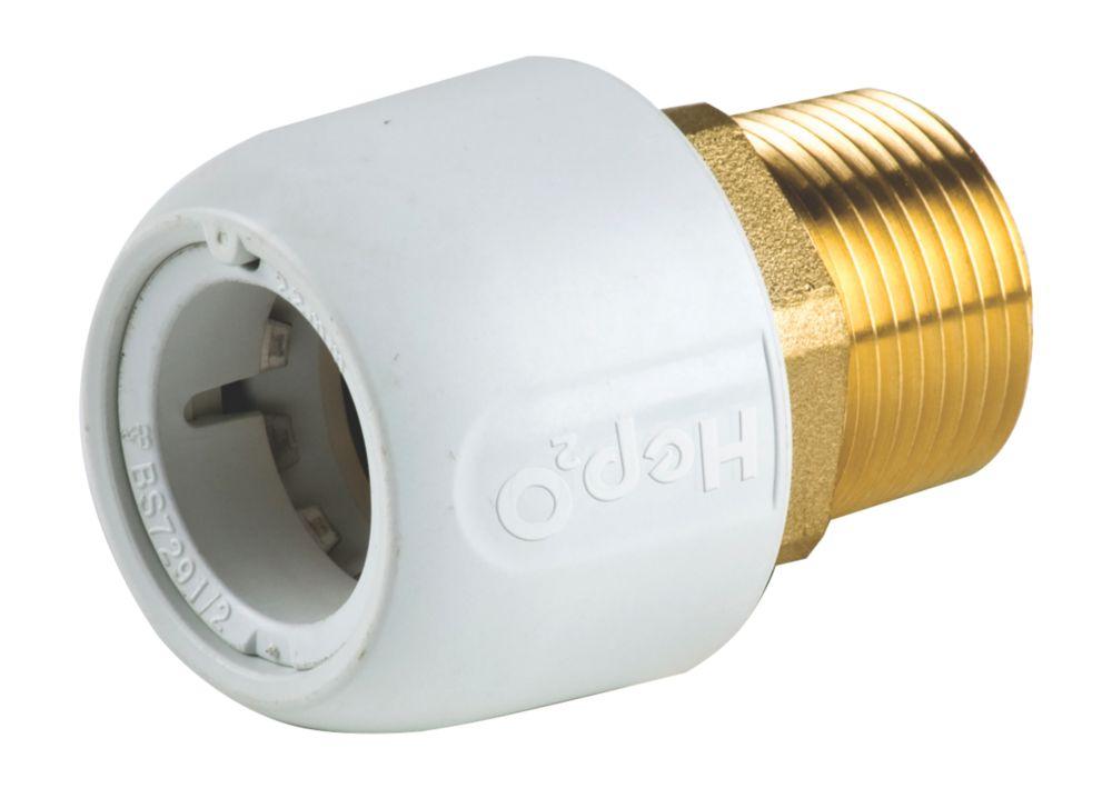"Image of Hep2O HX29/22WS Adapt Brass Male Socket """" x 22mm"