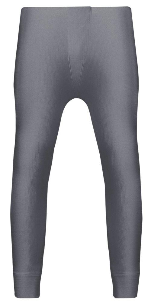 "Image of Workforce Thermal Baselayer Trousers Grey Medium 33-35"" W 29"" L"