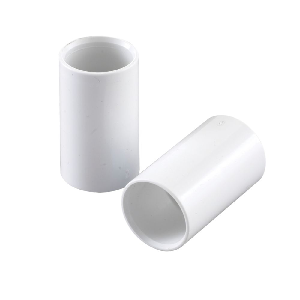Image of Conduit Couplings 25mm White Pack of 2