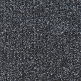 Image of Distinctive Flooring Ribbed Carpet Tiles Anthracite 16 Pack