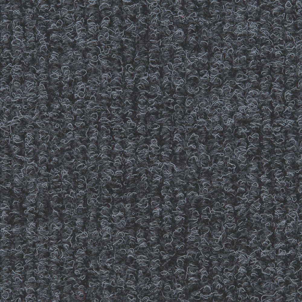 Image of Distinctive Flooring Ribbed Carpet Tiles Anthracite 16 Pcs