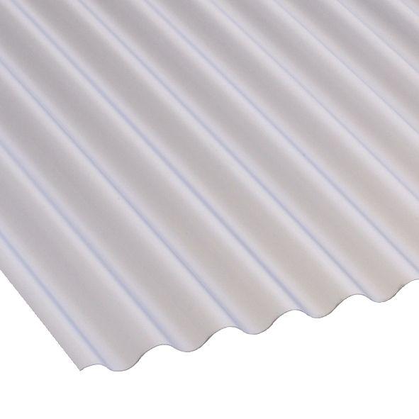 Image of Corolux Mini-Corrugated PVC Sheet Translucent 3050 x 662mm