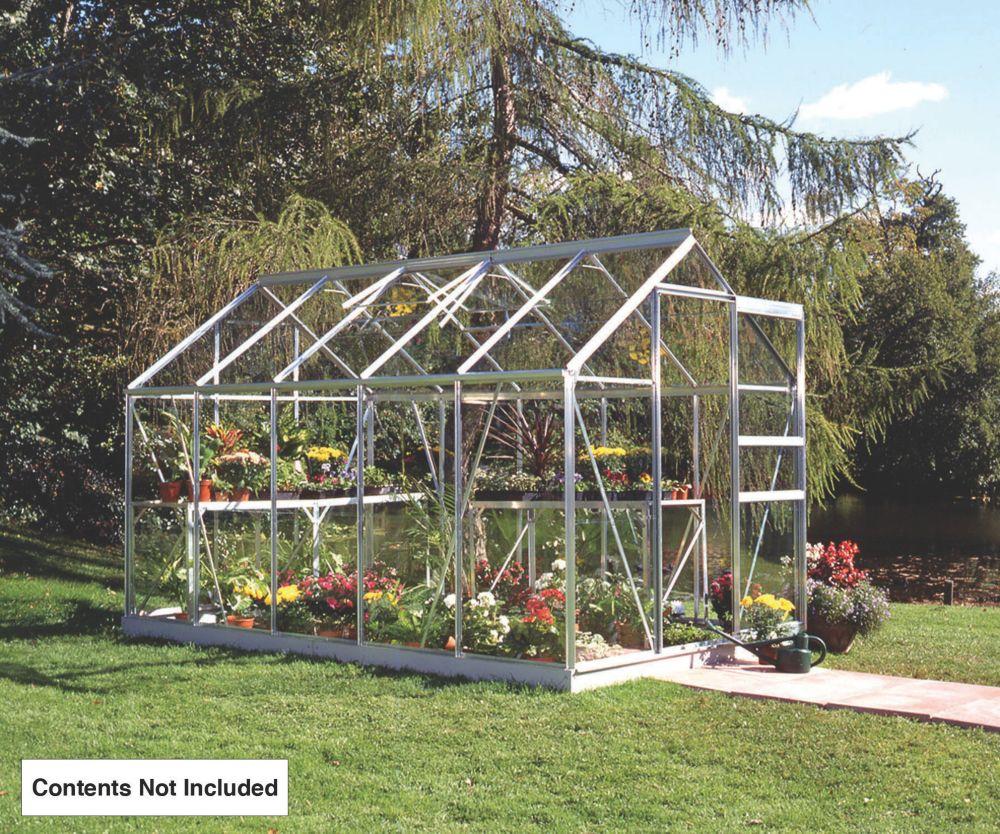 Image of Halls Popular Framed Greenhouse Aluminium 6' x 10'