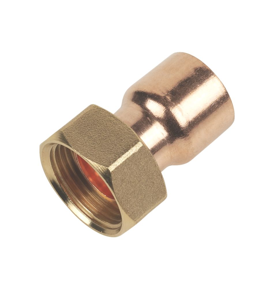 """Image of Flomasta End Feed Straight Tap Connector 22mm x """""""
