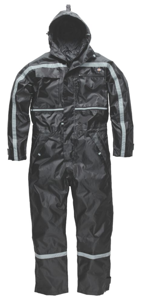 """Image of Dickies Dartmouth Waterproof Coverall Black Medium 40-42"""" Chest 34-36"""" L"""