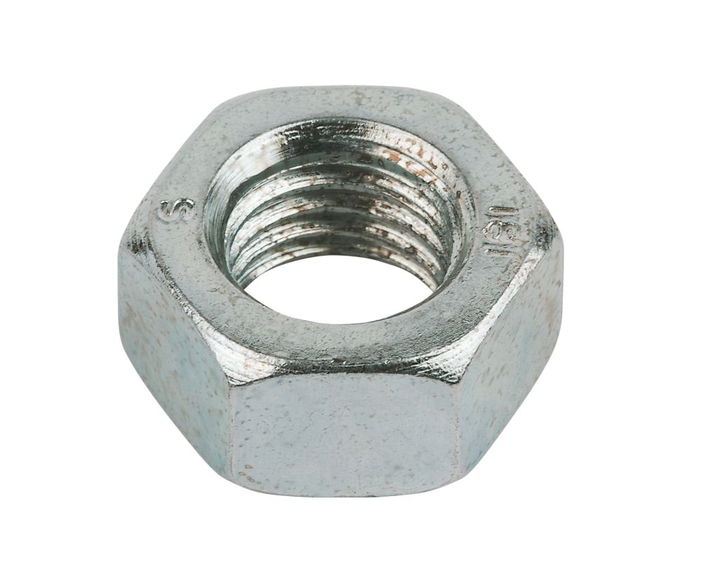 Image of Easyfix Hex Nuts Bright Zinc-Plated Steel M20 50 Pack