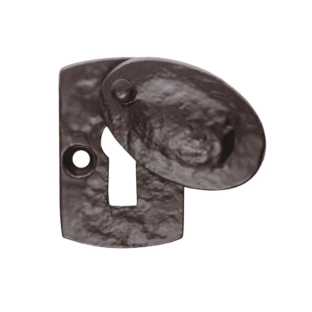 Image of Carlisle Brass Hand-Forged Covered Escutcheon Antique Black 30mm