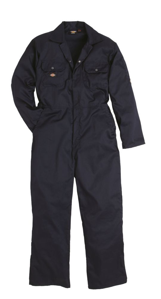 """Image of Dickies Economy Stud Front Coverall Navy Large 44-46"""" Chest 30"""" L"""