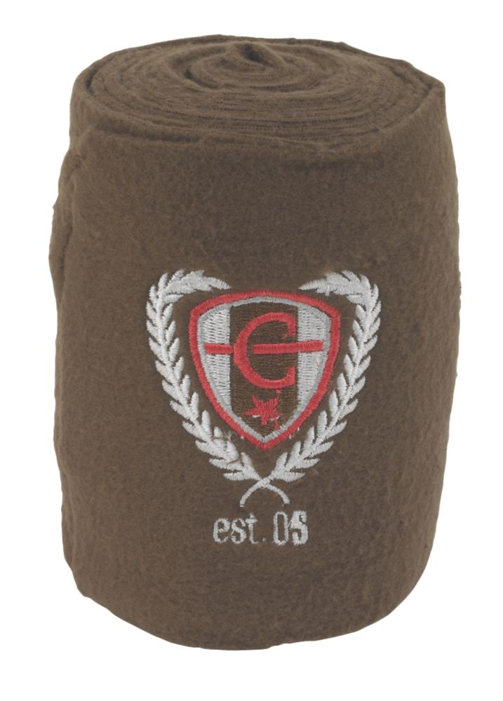 Image of Covalliero Fleece Horse Leg Bandages Brown 120mm x 3m 4 Pack