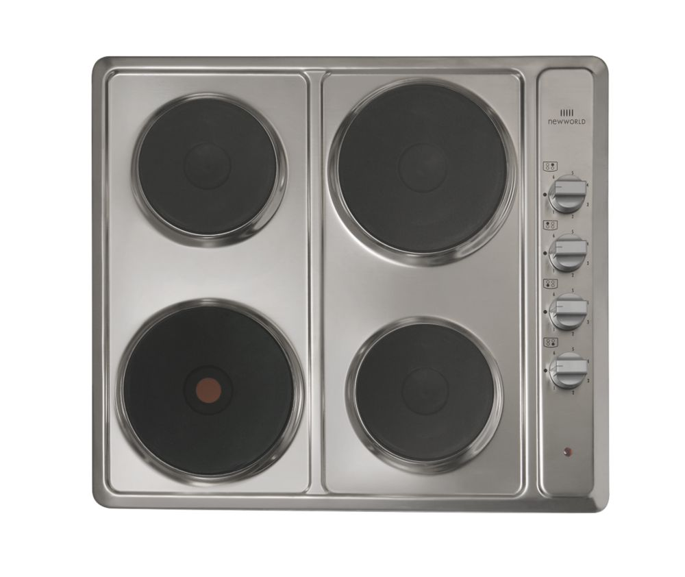Image of New World NW SHU60 MK2 Electric Solid Plate Hob Stainless Steel 510 x 580mm