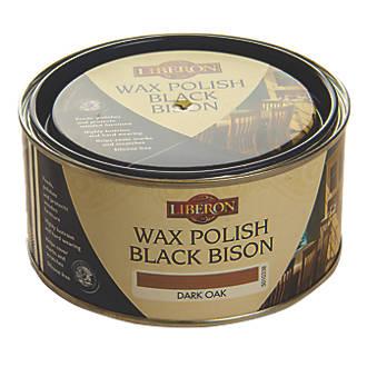 Image of Liberon Black Bison Paste Wax Satin to Gloss Dark Oak 500ml