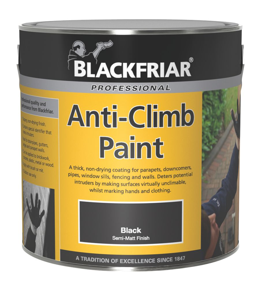 Image of Blackfriar Anti-Climb Paint Black 1Ltr