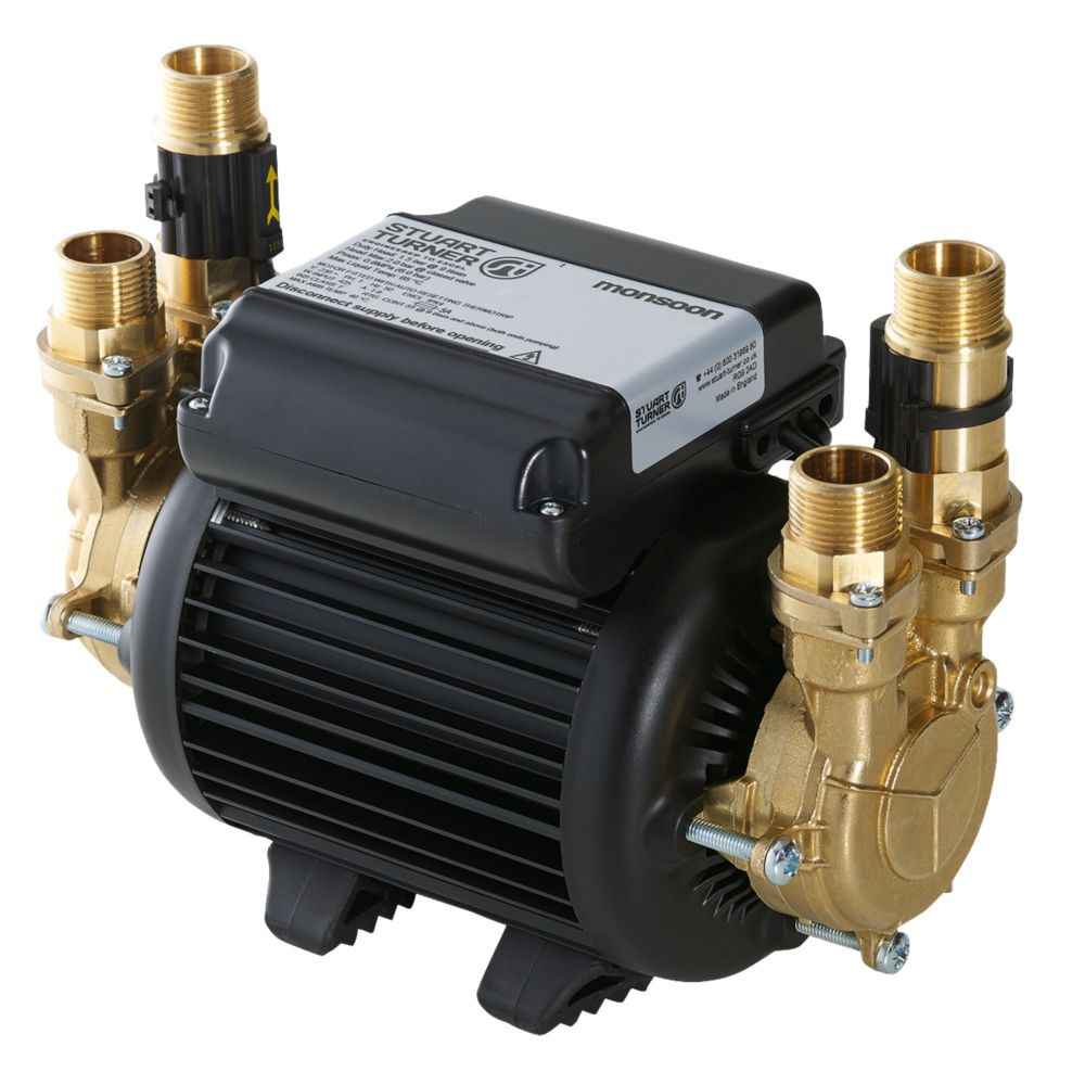 Image of Stuart Turner Monsoon Standard Regenerative Twin Shower Pump 1.5bar