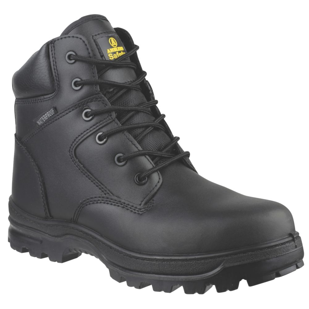 Image of Amblers FS006C Metal Free Safety Boots Black Size 7