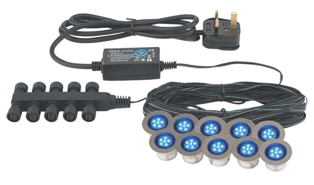 Image of Apollo LED Deck Light Kit Blue 45mm 10 Pack