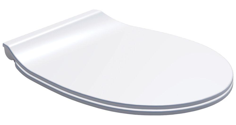 Image of Carrara & Matta Ancona Soft-Close with Quick-Release Toilet Seat Thermoset Plastic White