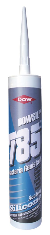 Image of Dow Corning 785+ Bacteria Resistant Sanitary Silicone White 310ml