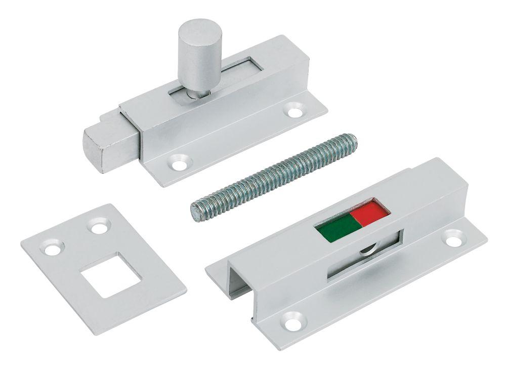 Image of Jedo Bathroom Indicator Bolt Aluminium