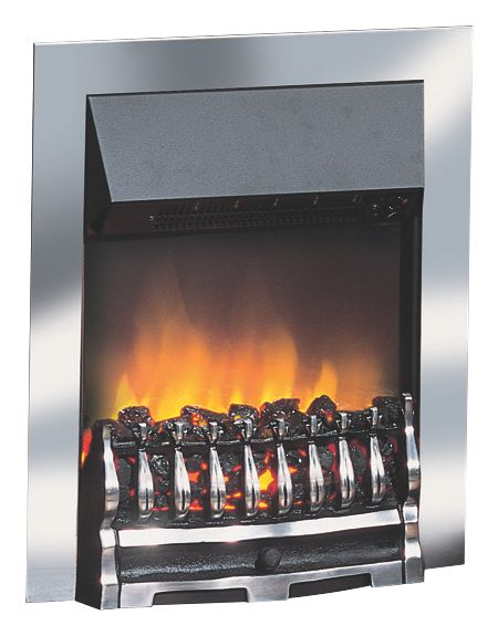 Image of Dimplex Wynford Chrome Switch Control Inset Electric Fire