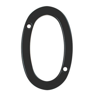 Image of Fab & Fix Door Numeral 0 Black 80mm