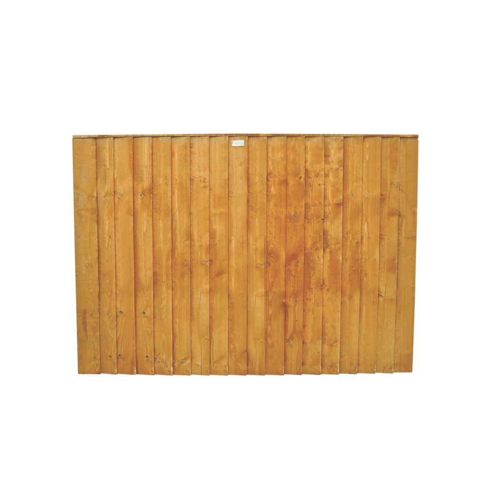 Image of Forest Feather Edge Fence Panels 1.82 x 1.2m 10 Pack