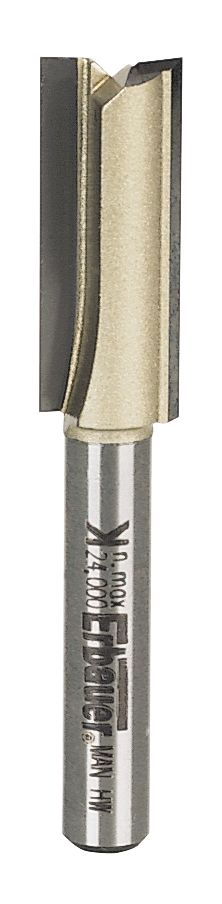 """Image of Ebauer Straight Router Cutter """" Shank 10 x 25.4mm"""