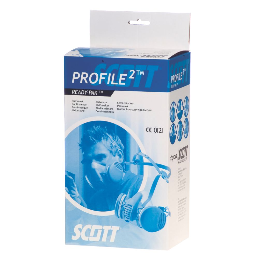 Image of Scott Safety Profile P3 Dust & Chemical Half Mask with Filters P3