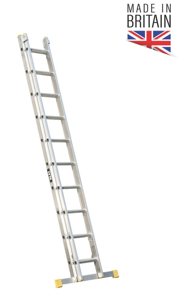 Image of Lyte 2-Section Aluminium Ladder 5.98m
