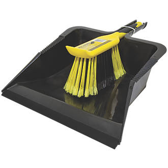 Image of Bentley Bulldozer Heavy Duty Dustpan & Brush Black / Yellow