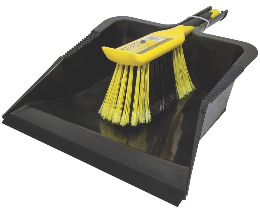 Image of Bentley Bulldozer Heavy Duty Dustpan & Brush Black / Yellow